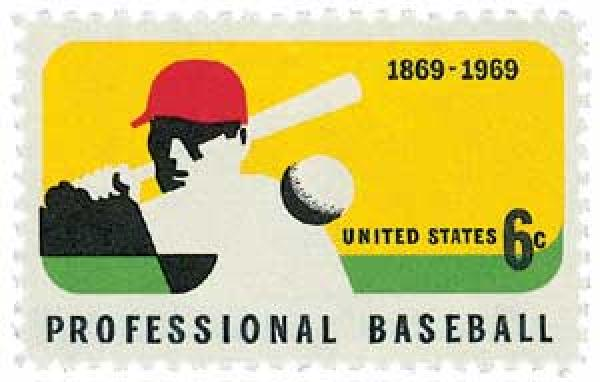 1969 6c Professional Baseball