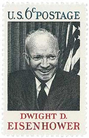 1969 6c Dwight D Eisenhower