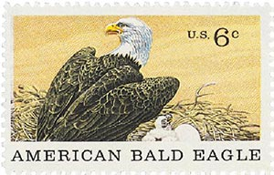 1970 6c Natural History: American Bald Eagle