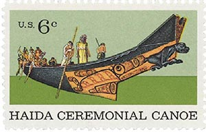 1970 6c Natural History: Haida Ceremonial Canoe