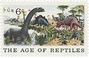1970 6c Natural History: The Age of Reptiles