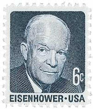 1970 6c Dwight D. Eisenhower