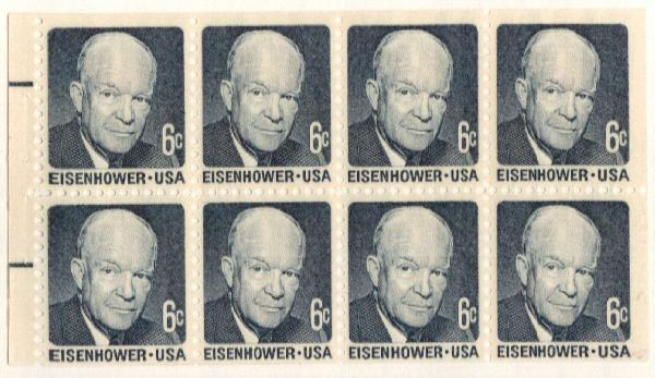 1970 6c D.Eisenhower, Booklet Pane (8)