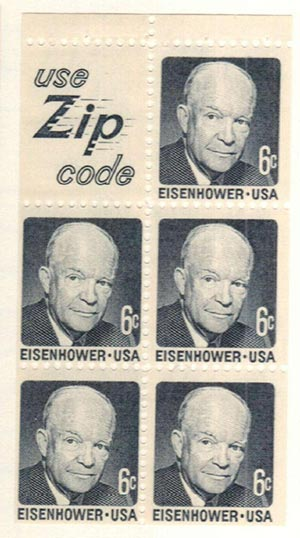1970 6c D.Eisenhower,bklt pane (5+label)