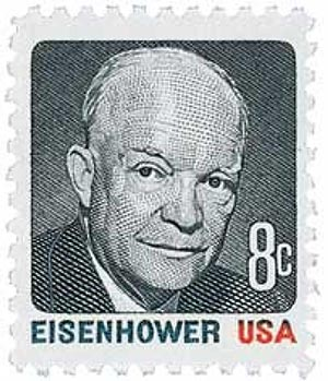 1971 8c Dwight D. Eisenhower, multicolor