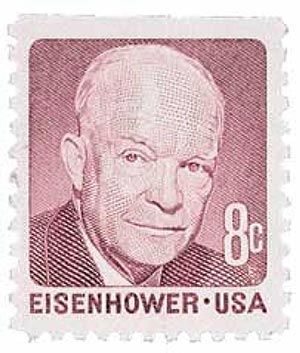 1971 8c Dwight D. Eisenhower, perf 11 x 10 1/2