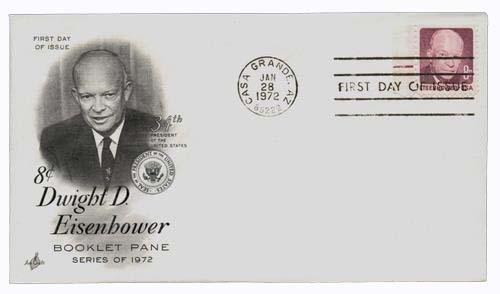 1970-74 8c D.D. Eisenhower,bklt single