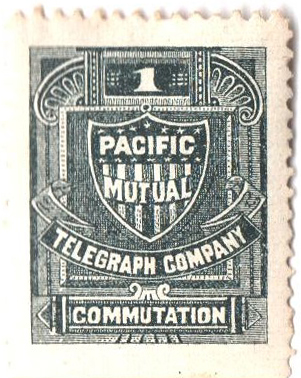 1883 1c Pacific Mutual perf 12
