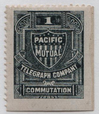 1883 1c slate,perf 12,'Pacific Mutual'