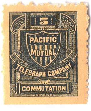 1883 5c blk, perf 12, Pacific Mutual'