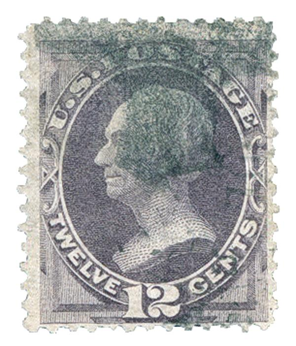 1870 12c Henry Clay, dull violet, H Grill