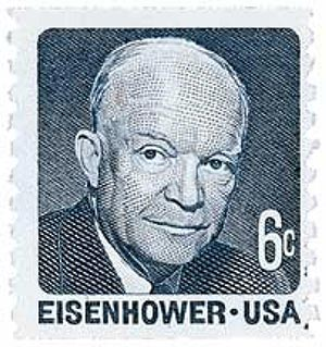 1970 6c Dwight D. Eisenhower, blue grey