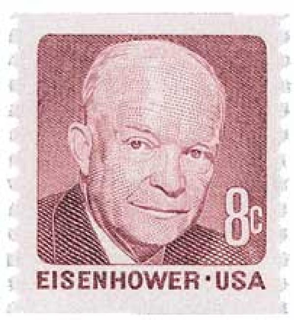 1971 8c Dwight D. Eisenhower, deep claret