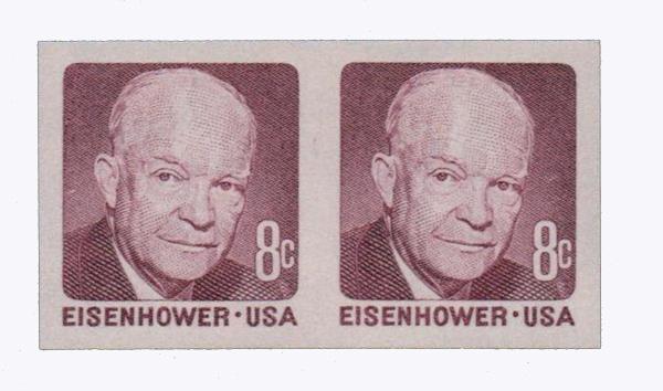1971 8c Eisenhower imperf