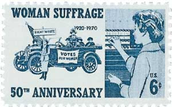1970 6c Woman Suffrage 50th Anniversary