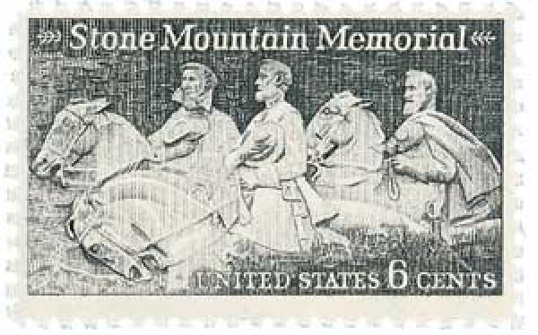 U.S. #1408 – Georgia's Stone Mountain Memorial honors Lee, Jefferson Davis, and Stonewall Jackson.