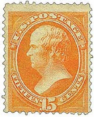1870 15c Webster, orange