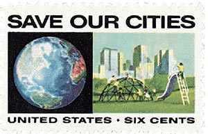 1970 6c Anti-Pollution: Save Our Cities