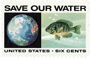 1970 6c Anti-Pollution: Save Our Water