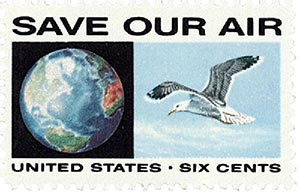 1970 6c Anti-Pollution/Globe & Seagull