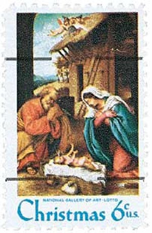 1970 6c Traditional Christmas: Nativity, precancel