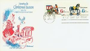 6c Christmas, 1970 Train-Horse Combo