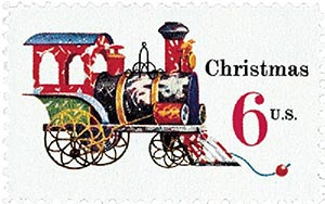 1970 6c Contemporary Christmas: Christmas Toys, Locomotive