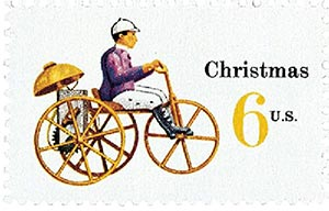 1970 6c Contemporary Christmas: Christmas Toys, Tricycle