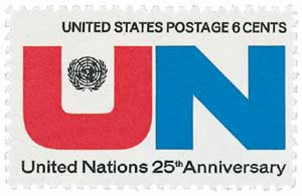 1970 6c United Nations 25th Anniversary