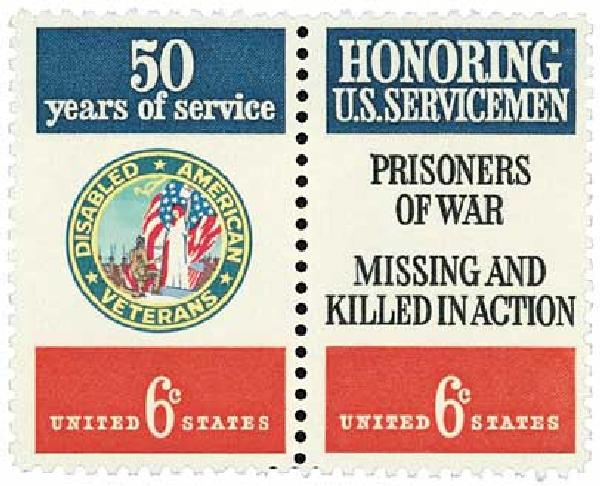 1970 6c Disabled American Veterans and Servicemen