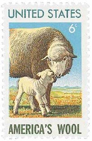 1971 6c Americas Wool Industry