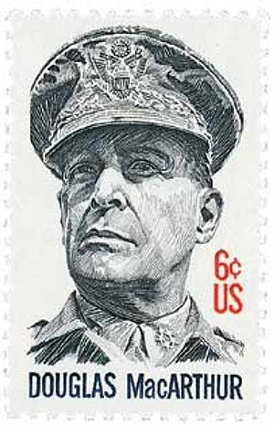 U.S. #1424 was issued on MacArthur's 91st birthday.