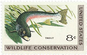 1971 Wildlife Conservation/Trout 8c