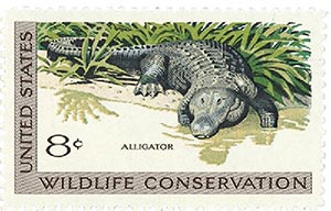 1971 8c Wildlife Conservation: Alligator