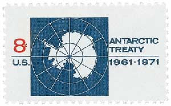 1971 8c Antarctic Treaty
