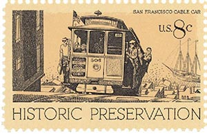 1971 8c Historic Preservation: San Francisco Cable Car