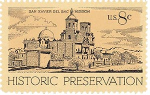 1971 8c Historic Preservation: San Xavier Del Bac Mission