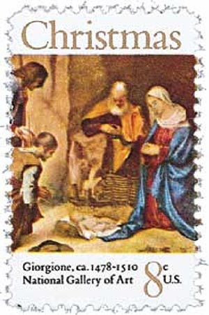 1971 8c Traditional Christmas: Adoration of the Shepherds