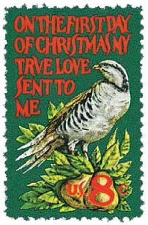 1971 8c Contemporary Christmas: Partridge in a Pear Tree