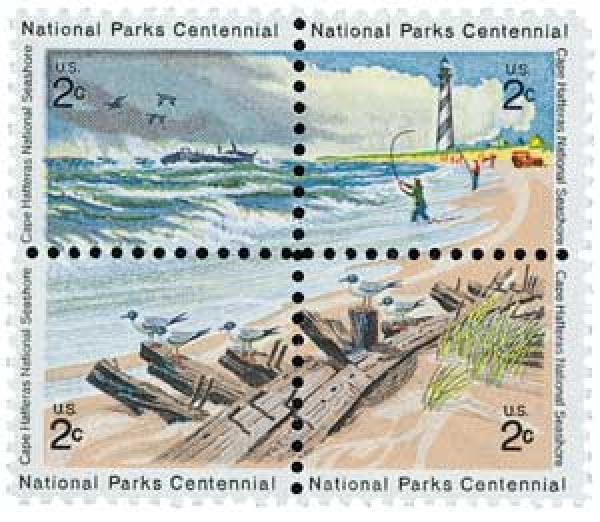 1972 2c National Parks Centennial: Cape Hatteras National Seashore