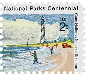 1972 2c Cape Hatteras National Seashore: Fishermen