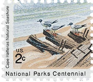 1972 2c Cape Hatteras National Seashore: Seagulls on Shipwreck