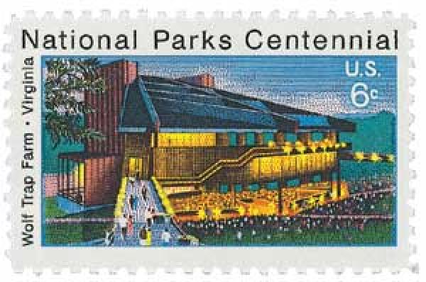 1972 6c National Parks Centennial: Wolf Trap Farm