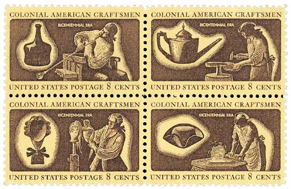 1972 8c Colonial American Craftsmen