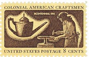 1972 8c Colonial American Craftsmen: Silversmith