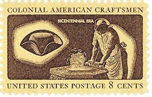 1972 8c Colonial Craftsmen/Hatter
