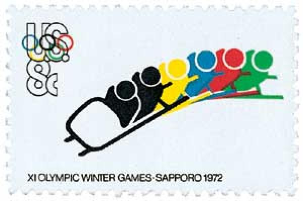1972 8c 11th Winter Olympic Games