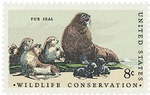 1972 8c Wildlife Conservation/Fur Seal