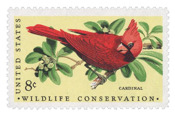 1972 8c Wildlife Conservation: Cardinal