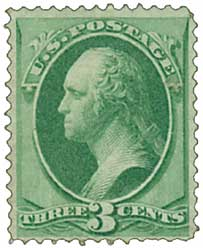 US #147 is the first known used Bank Note stamp. Click image to order.